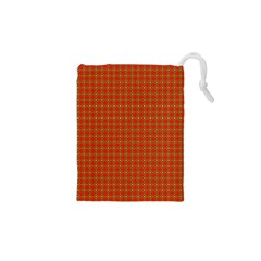 Christmas Paper Wrapping Paper Pattern Drawstring Pouches (XS)