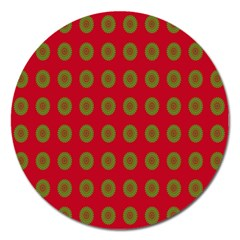 Christmas Paper Wrapping Paper Magnet 5  (Round)