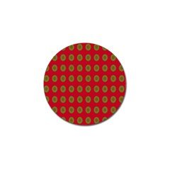 Christmas Paper Wrapping Paper Golf Ball Marker
