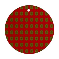 Christmas Paper Wrapping Paper Round Ornament (Two Sides)