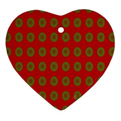 Christmas Paper Wrapping Paper Heart Ornament (Two Sides)