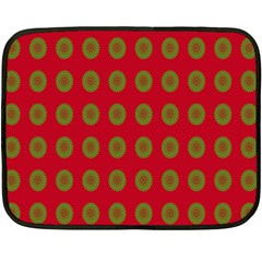 Christmas Paper Wrapping Paper Double Sided Fleece Blanket (Mini)