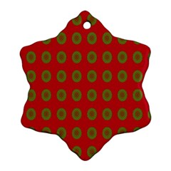Christmas Paper Wrapping Paper Snowflake Ornament (Two Sides)