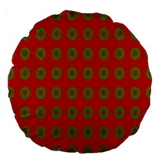 Christmas Paper Wrapping Paper Large 18  Premium Round Cushions