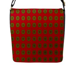 Christmas Paper Wrapping Paper Flap Messenger Bag (l)