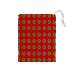 Christmas Paper Wrapping Paper Drawstring Pouches (Medium)