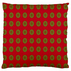 Christmas Paper Wrapping Paper Large Flano Cushion Case (Two Sides)