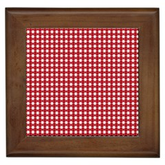 Christmas Paper Wrapping Paper Framed Tiles
