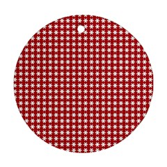 Christmas Paper Wrapping Paper Ornament (round)