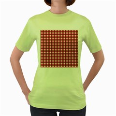 Christmas Paper Wrapping Paper Women s Green T-Shirt
