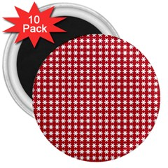 Christmas Paper Wrapping Paper 3  Magnets (10 pack)