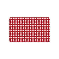 Christmas Paper Wrapping Paper Magnet (Name Card)