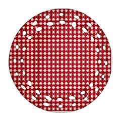 Christmas Paper Wrapping Paper Round Filigree Ornament (two Sides)