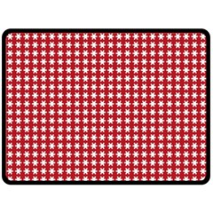 Christmas Paper Wrapping Paper Double Sided Fleece Blanket (large)