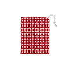 Christmas Paper Wrapping Paper Drawstring Pouches (XS)