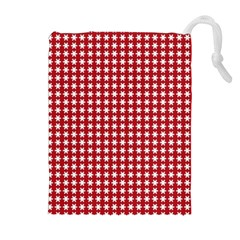 Christmas Paper Wrapping Paper Drawstring Pouches (Extra Large)