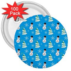 Christmas Pattern 3  Buttons (100 pack)