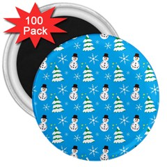 Christmas Pattern 3  Magnets (100 pack)