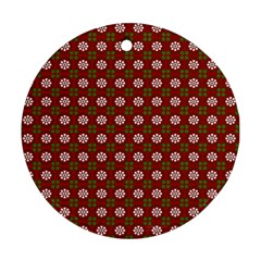 Christmas Paper Wrapping Pattern Ornament (Round)
