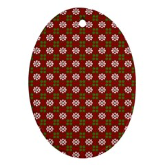 Christmas Paper Wrapping Pattern Ornament (Oval)