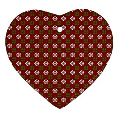 Christmas Paper Wrapping Pattern Ornament (Heart)