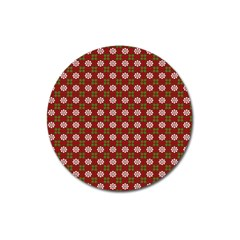 Christmas Paper Wrapping Pattern Magnet 3  (round)