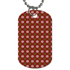 Christmas Paper Wrapping Pattern Dog Tag (One Side)