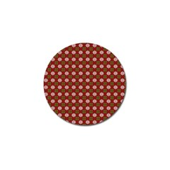 Christmas Paper Wrapping Pattern Golf Ball Marker (4 Pack)