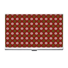 Christmas Paper Wrapping Pattern Business Card Holders