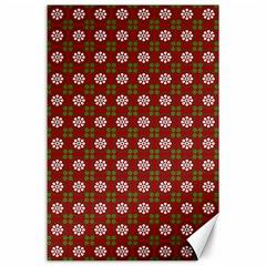 Christmas Paper Wrapping Pattern Canvas 24  x 36