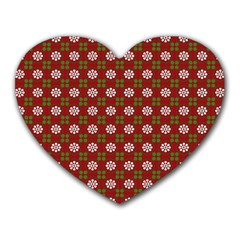 Christmas Paper Wrapping Pattern Heart Mousepads
