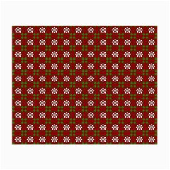 Christmas Paper Wrapping Pattern Small Glasses Cloth (2-Side)