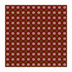 Christmas Paper Wrapping Pattern Medium Glasses Cloth (2 Side)