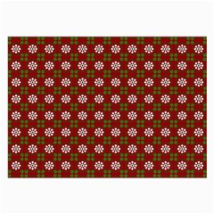 Christmas Paper Wrapping Pattern Large Glasses Cloth (2 Side)