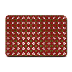 Christmas Paper Wrapping Pattern Small Doormat