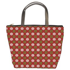 Christmas Paper Wrapping Pattern Bucket Bags