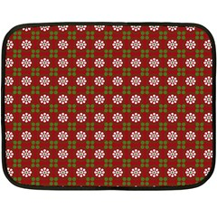 Christmas Paper Wrapping Pattern Double Sided Fleece Blanket (Mini)