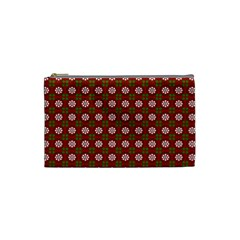 Christmas Paper Wrapping Pattern Cosmetic Bag (Small)