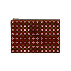 Christmas Paper Wrapping Pattern Cosmetic Bag (Medium)