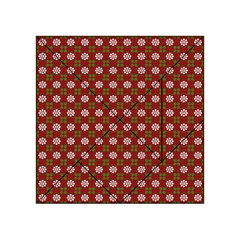 Christmas Paper Wrapping Pattern Acrylic Tangram Puzzle (4  x 4 )