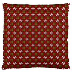 Christmas Paper Wrapping Pattern Large Cushion Case (two Sides)