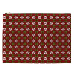 Christmas Paper Wrapping Pattern Cosmetic Bag (XXL)