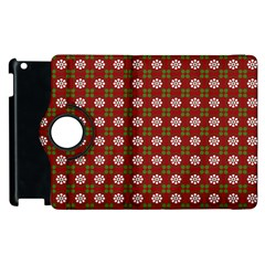 Christmas Paper Wrapping Pattern Apple iPad 2 Flip 360 Case