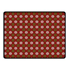 Christmas Paper Wrapping Pattern Double Sided Fleece Blanket (Small)