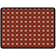 Christmas Paper Wrapping Pattern Double Sided Fleece Blanket (large)