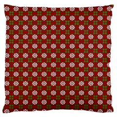 Christmas Paper Wrapping Pattern Large Flano Cushion Case (one Side)