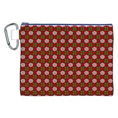 Christmas Paper Wrapping Pattern Canvas Cosmetic Bag (XXL)