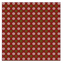 Christmas Paper Wrapping Pattern Large Satin Scarf (Square)