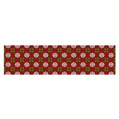 Christmas Paper Wrapping Pattern Satin Scarf (Oblong)