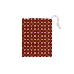 Christmas Paper Wrapping Pattern Drawstring Pouches (XS)